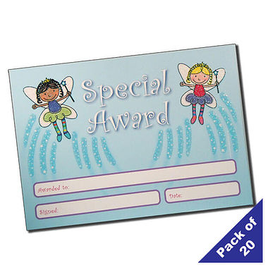Pack of 20 Fairy Glitter Certificates