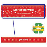 Pack of 4 Star of the Week 30cm Flexible Recycled Rulers