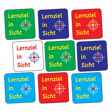 Sheet of 140 Mixed Target In Sight 16mm Stickers