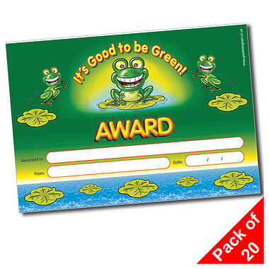 Good to be Green Certificates (20 Certificates - A5)