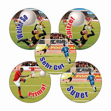 Sheet of 70 Mixed Sheet Football 25mm Stickers