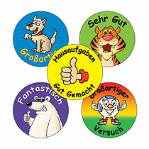Assorted German 25mm Stickers x 70