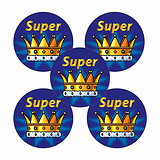 Sheet of 70 Super Crown 25mm Stickers
