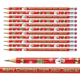 Merry Christmas from your Teacher Pencils - Metallic Finish (12 Pencils)