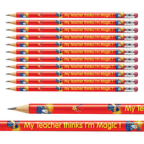 12 My Teacher Thinks I'm Magic Metallic Finish Pencils