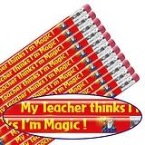 12 My Teacher Thinks I'm Magic Metallic Finish Pencils