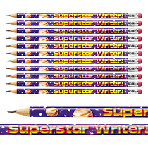 Pack of 12 Superstar Writer Pencils