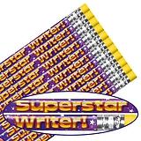 Pack of 12 Superstar Writer Metallic Finish Pencils