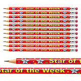 Pack of 12 Star of the Week Metallic Finish Pencils