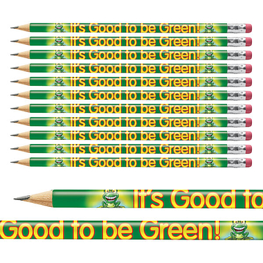 Pack of 12 Good to be Green Pencils