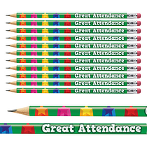 Great Attendance Pencils Pack of 12