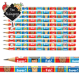 Pedagogs Pencils - Red & Blue (12 Pencils)