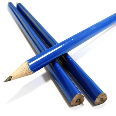 TRIANGULAR Pencils - Blue (12 Pencils)