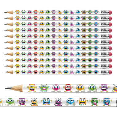 Monster Pencils (12 Pencils)