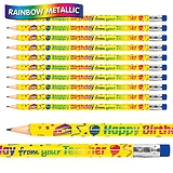 Happy Birthday from Your Teacher Metallic Pencils (Pack of 12)