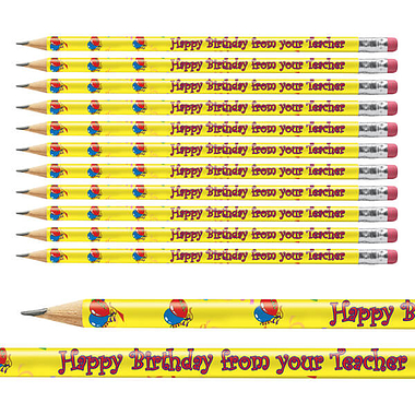 Happy Birthday Pencils (12 Pencils)