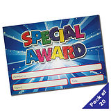 Pack of 20 Special Award Glitter Certificates