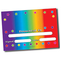 Personalised A5 Colour Spectrum Certificates