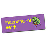 Independent Work Stickers (56 Stickers - 46mm x 16mm)