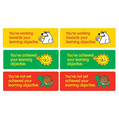 Sheet of 56 Mixed Learning Objective 46mm x 16mm Stickers