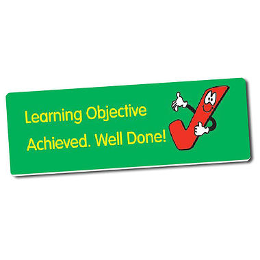 56 Learning Objective Achieved 46mm x 16mm Stickers