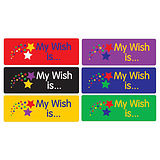 Sheet of 56 Mixed My Wish Is 46mm x 16mm Stickers