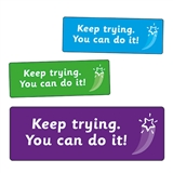 Keep Trying. You Can Do It! Stickers (56 Stickers - 46mm x 16mm)