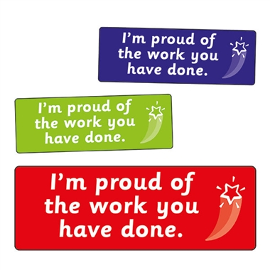 Proud Of The Work You Have Done Stickers (56 Stickers - 46mm x 16mm)