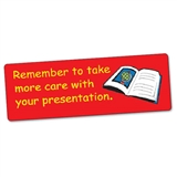 Take Care With Presentation Stickers (56 Stickers - 46x16mm)