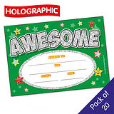 Holographic Awesome Certificates (20 Certificates - A5)
