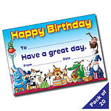 Pack of 20 Happy Birthday Party A5 Certificates