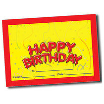 Personalised A5 Happy Birthday Certificates