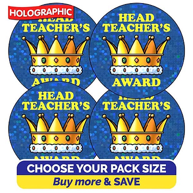 Holographic Head Teacher's Award (37mm)