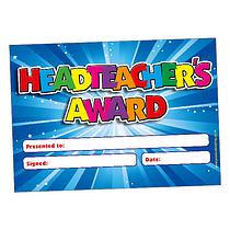 20 x Head Teacher Award Glitter Certificates - Mess Free
