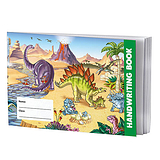 Single Dinosaur Themed 32 Page Lined Handwriting Book