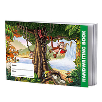 Single Jungle Themed 32 Page Lined Handwriting Book