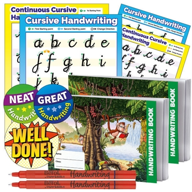 Handwriting Pack - Poster, Books, Berol Pens, Card & Stickers