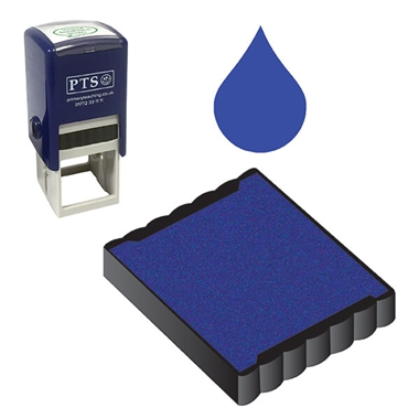 Ink Pad Refill for Stampers - Blue Ink (25mm x 25mm)