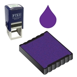Ink Pad Refill for Stampers - Purple Ink (25mm x 25mm)