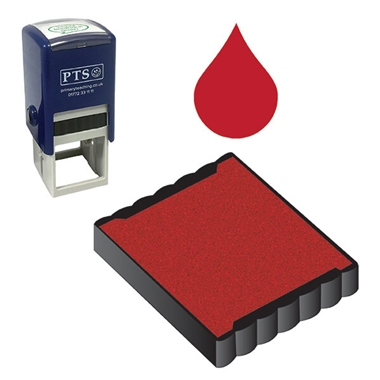 Ink Pad Refill for Stampers - Red Ink (25mm x 25mm)