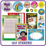 Key Stage 1 Value Pack (1557 Stickers - 1 Praisepad)