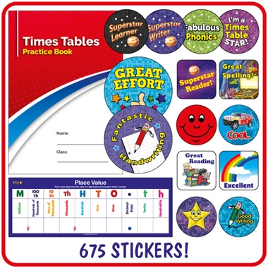 Value Pack of 1521 Key Stage 2 Stickers and a Praisepad