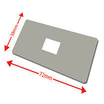 Pack of 100 Grey 72mm x 38mm Large Library Labels