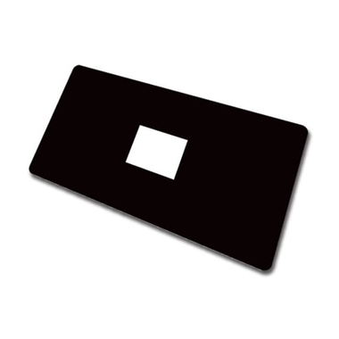 Large Library Labels - Black (100 Labels - 72mm x 38mm)