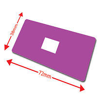 Pack of 100 Purple 72mm x 38mm Large Library Labels
