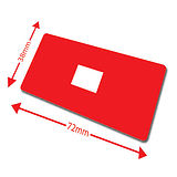 Pack of 100 Red 72mm x 38mm Large Library Labels