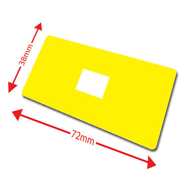 Pack of 100 Yellow 72mm x 38mm Large Library Labels