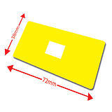 Large Library Labels - Yellow (100 Labels - 72mm x 38mm)