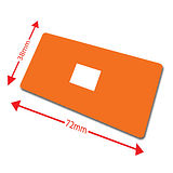 Pack of 100 Orange 72mm x 38mm Large Library Labels