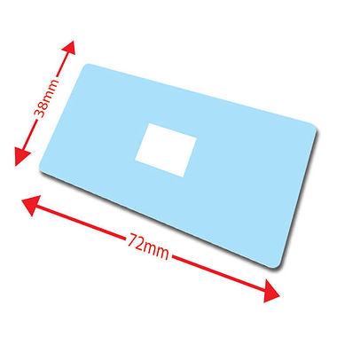 Large Library Labels - Light Blue (100 Labels - 72mm x 38mm)
